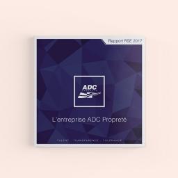 Rapport RSE 2017 - ADC Propreté