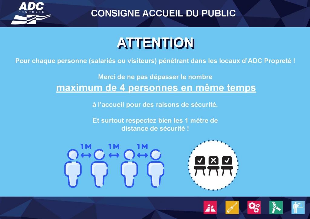 Affiche protection ACCUEIL ADC Propreté