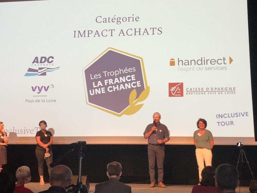 Les Trophées la France Une chance - catégorie IMPACT ACHATS