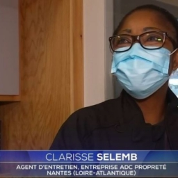 Interview de Clarisse SELEMBI : À l'occasion du retour du dispositif de la prime Macron, ADC propreté a eu l'honneur de témoigner sur son rôle essentiel pendant la pandémie, au JT de 20H.